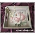 """Dienblad """"Romantic Roses"""""""