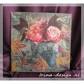 "Wanddecoratie ""Roses of autumn'"